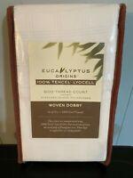 Eucalyptus Origins 600-Thread-Count Windowpane Standard Pillowcases in White