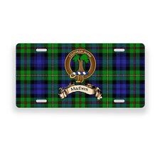 MacEwen Scottish Clan Novelty Auto Plate Tag Family Name License Plate