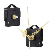 Silent Clock DIY Quartz Movement Mechanism Gold Black Hands Replacement Part Set