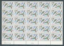 OISEAUX - 1960 YT 1275 feuillet de 25 - TIMBRES NEUFS** LUXE