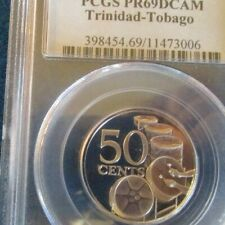 1975 Trinidad and Tobago Population of 2 Total 50 Cents