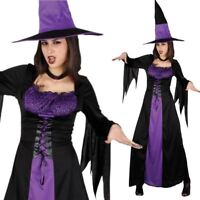Adult Ladies Spellbound Witch Fancy Dress Halloween Book Week Costume Hat Outfit