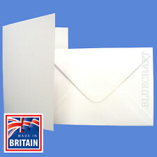 """50 pack 5 x 7"""" White Blank Greetings Cards & Envelopes - Perfect for Cardmaking"""