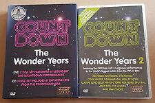 COUNTDOWN WONDER YEARS 1 (Deluxe) & 2 /4 DVD 3 CD SHERBET MODELS DRAGON DIVINYLS
