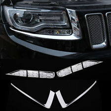 Front Headlight Eyelid Decorative Trim 8pcs for Jeep Grand Cherokee 2014 - 2016