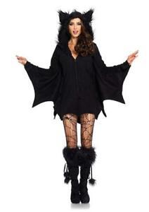Leg Avenue Women's Cozy Black Bat Halloween Costume, Medium, Black, Size Medium