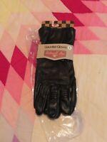 Biltwell Gauntlet Motorcycle Gloves Long Cuff Black Heavy Duty Cowhide Large
