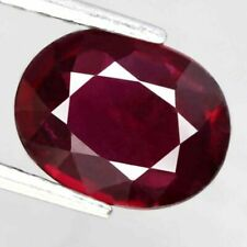 Ruby Loose Gemstone 7.25 Ct Oval Shape Natural Ruby Certified