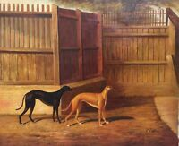 "Oil Painting On Canvas 20"" x 24"" ""Dogs"""