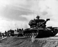 "U.S. Tanks and ACAV's secure supply route 8""x 10"" Vietnam War Photo 95"
