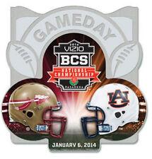 Official 2014 BCS Championship Pin Florida State Seminoles Auburn Tigers Gameday