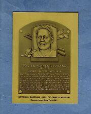 BUCK LEONARD, Negro League ~ Official Hall of Fame METALLIC plaque-card 1/1,000