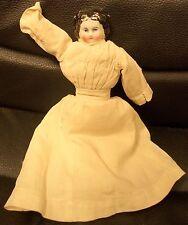 Vintage German Porcelain Head Antique Doll, Cloth Body