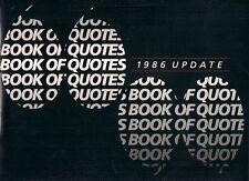 Austin Rover Quotes 1986 UK Fleet Market Brochure Metro Maestro Montego 200 SD1