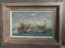 Vintage Modern Steam Punk Funk Nude Dream Painting Warren Doolittle Gadget Boat