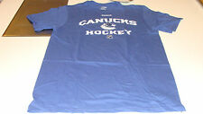 Vancouver Canucks Elite Authentic Center Ice NHL Hockey Players L T Shirt SS