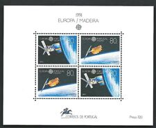 Europe 1991 Portugal Madeira Space Block Sheet Mint Never Hinged