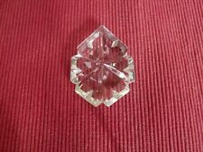 Pampille goutte à facettes lustre ancien en cristal de bohème H60 D45  424066