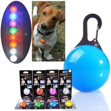 Dog Collar Light Glow In The Dark Bubble Ball LED Battery Safe Pet Accessories