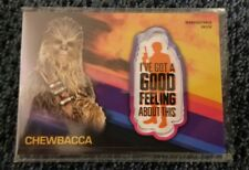 Topps Solo Chewbacca Patch Target Exclusive Gold /10 TP-CG