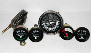 John Deere Tachometer Temperature, Oil pressure,  Ampere &  Fuel Gauge Set