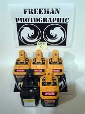 Ryobi One+ 18V Volt P100 NiCad Battery (5 Pack) As-Is Parts or Repair Read Lot C