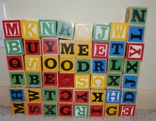 Building Block Alphabet Letter red,blue,green,yellow Bright color 49 pieces 1""