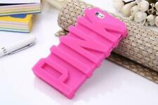 Fashion 3D PINK Letter Soft Silicone Rubber Case iPhone 7 plus 7s plus rose girl