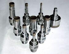"Diamond Core Drill Bit Sintered Belgian Mount D1/2"" (12.7mm) L75/95mm for Glass"