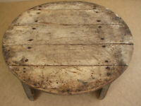 Old Antique Primitive Wooden Wood Repast Dinning Table Ottoman Era Rustic 19th