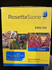 Rosetta Stone English (American) TOTALe v4 Level 1-5 (Retail) (1 User)-full New