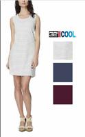 NWT!! 32 Degrees Womens Sleeveless Summer Dress Burgundy-Grey Strp XS-S-M-L