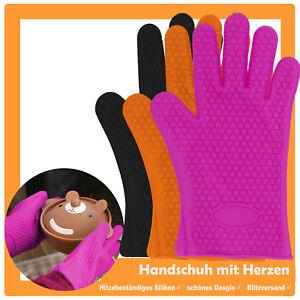 Silikon  Handschuh hitzebeständig Topfhandschuh Blech Ofen Backen Topflappen
