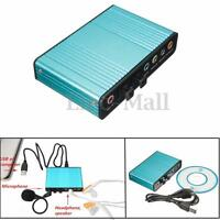 External Optical USB 6 Channel 5.1 Audio Sound Card S/PDIF Adapter For PC Laptop