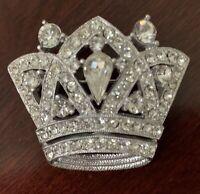 Vintage Signed Hattie Carnegie Rhinestone Crown Brooch