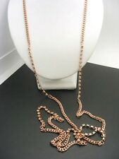 $14 Stephan & Co Rose Goldtone Single Strand Station Necklace Rhinestone Accents