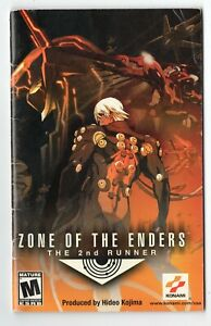 Zone Of The Enders The 2nd Runner Sony PlayStation 2 PS2 Instruction Manual