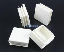 32 Pieces 40x40mm White Square Plastic Insert Cap Tube End Cover Cap