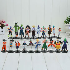20pcs/set Dragon Ball Z GT Action Figures Crazy Party 10CM Cell/Freeza/Goku Top