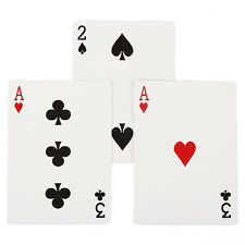 ULTIMATE 3 CARD MONTE GIMMICK BICYCLE RED BACK CARDS COMEDY 2 MAGIC TRICK Pop.