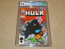 Incredible Hulk #333 Leader App CGC NM+ 9.6 Marvel 1987 White Pages