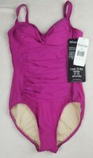 Miraclesuit Swimsuit Berry Red Pink 10 Averi Org. $160 One Piece NWT