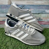 Adidas L.A. Trainers Men's Grey White UK6.5 US7 EU40 Retro Vintage 2012 G64416