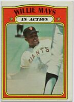 1972 Topps #50 Willie Mays EX-EXMT San Francisco Giants FREE SHIPPING
