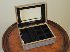 NIB Ralph Lauren Home Collection Delilah Estate Metallic Tweed Jewelry Box