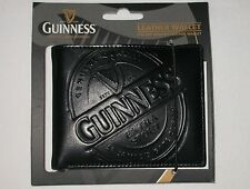New Guinness Guiness Black Leather Wallet