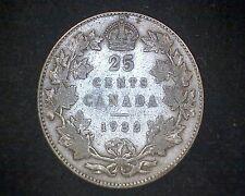 1932 CANADA 25 CENTS KM#24a -80% SILVER #14785