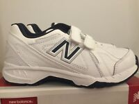 New Balance Big Kids Shoes KV624WNY White w/ Navy Size 4 Medium