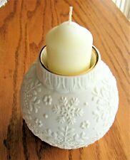 Lenox Ornamental Glow Snowflake White Votive Candle Holder