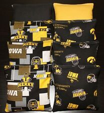 Iowa Hawkeyes 8 Cornhole Bean Bags Baggo/Toss Top Quality Handmade! New!